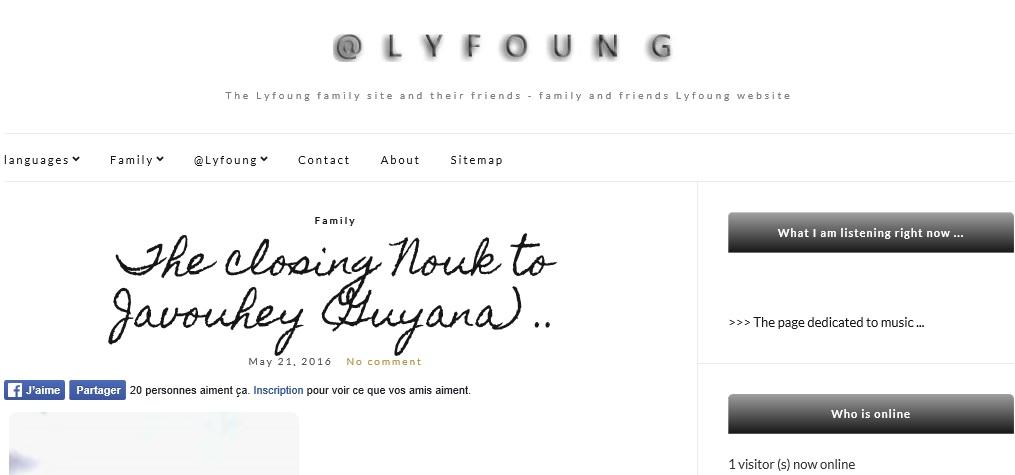 Le site @Lyfoung en anglais