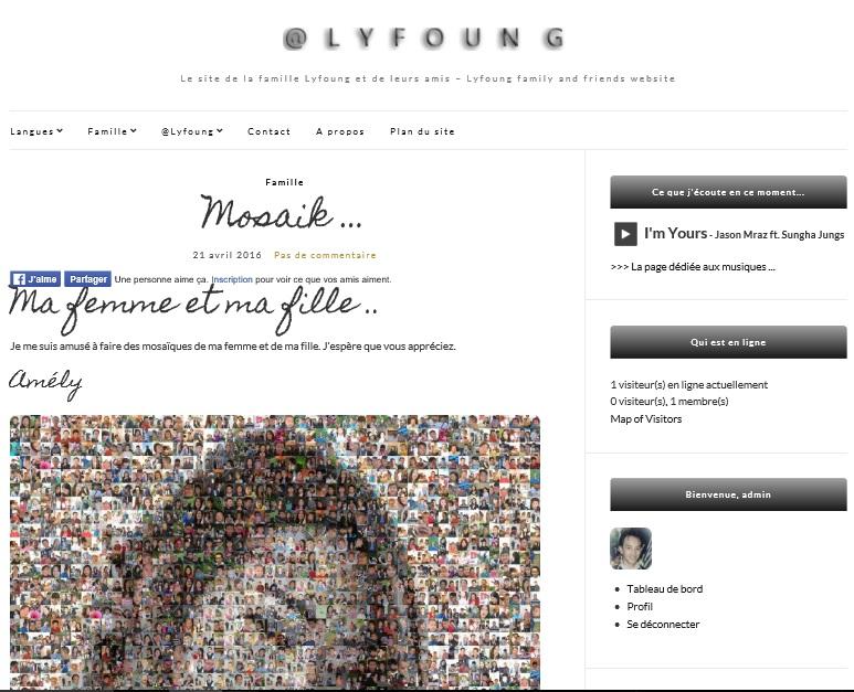 Le nouveau thème utilisé sur le site @Lyfoung