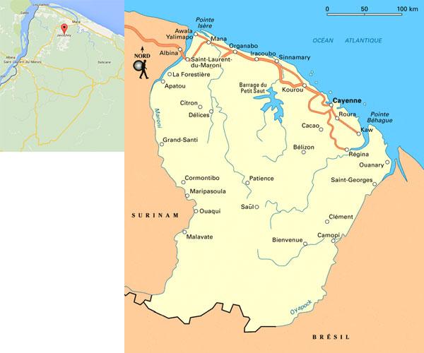 La Guyane et le village de Javouhey